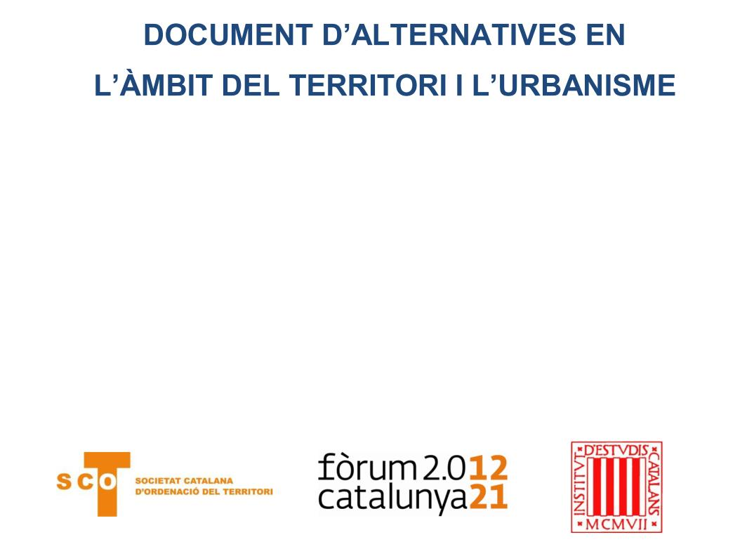 Document d'alternatives